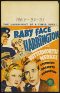 "Movie Posters:Comedy, Baby Face Harrington (MGM, 1935). Window Card (14"" X 22""). ..."