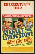 "Movie Posters:Adventure, Stanley and Livingstone (20th Century Fox, 1939). Window Card (14""X 22""). ..."