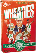 "Basketball Collectibles:Others, Red Auerbach Signed Wheaties Box. Unopened box of ""The Breakfast ofChampions"" pictures six Hall of Fame members of the Bost..."