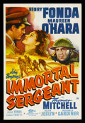 "Movie Posters:War, Immortal Sergeant (20th Century Fox, 1943). One Sheet (27"" X 41"")...."