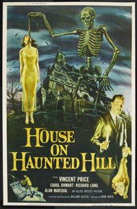 "House on Haunted Hill (Allied Artists, 1959). Poster (40"" X 60"")"