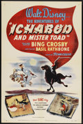 "Movie Posters:Animated, Ichabod and Mr. Toad (RKO, 1949). One Sheet (27"" X 41""). Animated.Starring the voices of Bing Crosby, Eric Blore, Basil Rat..."