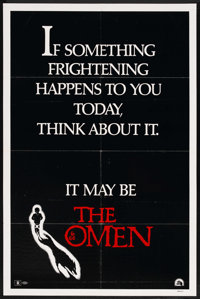 "The Omen (20th Century Fox, 1976). One Sheet (27"" X 41"") Style D"