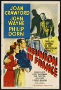 "Movie Posters:War, Reunion in France (MGM, 1942). One Sheet (27"" X 41"") Style D. ..."