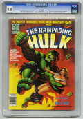 Magazines:Superhero, The Rampaging Hulk #8 (Marvel, 1978) CGC NM/MT 9.8 Off-white towhite pages....