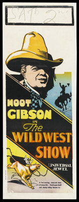 "The Wild West Show (Universal, 1928). Australian Daybill (15"" X 40""). Western. Starring Hoot Gibson, Dorothy G..."