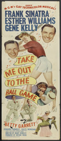 "Movie Posters:Sports, Take Me Out to the Ball Game (MGM, 1949). Insert (14"" X 36""). Sports. Starring Frank Sinatra, Esther Williams, Gene Kelly, B..."