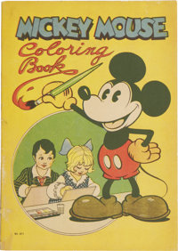 Mickey Mouse Coloring Book #871 (Saalfield Publishing Co., 1931) Condition: GD/VG