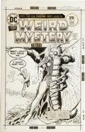 Original Comic Art:Covers, Luis Dominguez - Weird Mystery Tales #19 Cover and CoverPreliminary Original Art (DC, 1975). ... (Total: 2 Items)
