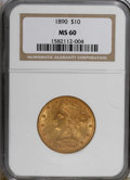 Liberty Eagles: , 1890 $10 MS60 NGC. NGC Census: (60/151). PCGS Population (28/145). Mintage: 57,900. Numismedia Wsl. Price for NGC/PCGS coin...