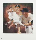 """Autographs:Others, Mickey Mantle Signed Lithographs Lot of 2. While each of thisattractive pair of 22x24"""" Mickey Mantle lithos sports the glo..."""