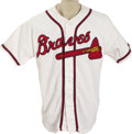 Autographs:Baseballs, 2004 Travis Smith Game Worn Jersey. Travis Smith spent onlyseventeen games with the Atlanta Braves, with all but one comin...