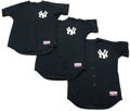 Baseball Collectibles:Uniforms, 2004 New York Yankees Batting Practice Jerseys From JapaneseExhibition Lot of 3. At the onset of the 2004 Major League cam...