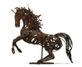Latin American:Contemporary, Eduardo Levindo (Mexican, 20th century). . Untitled life-sizefigure of a horse. 1978. Rebar/Scrap metal , rust pati...