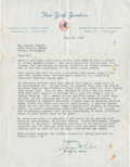 Baseball Collectibles:Others, 1960 George Weiss Signed Letter To Robert Johnson....