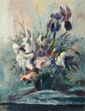 Texas:Early Texas Art - Regionalists, JOSÉ VIVES-ATSARA (American, 1919-2004). Flowers in a Vase.Oil on masonite. 26 x 20 inches (66.0 x 50.8 cm). Signed low...