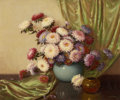 Western:20th Century, A. D. GREER (American, 1904-1998). Portrait ofChrysanthemums. Oil on canvas. 30 x 36-1/4 inches (76.2 x 92.1cm). Signe...