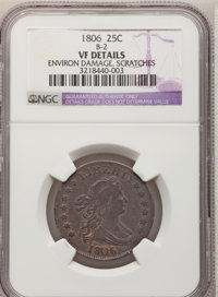 1806 25C --Scratches, Environmental Damage--NGC Details. VF. B-2. NGC Census: (17/180). PCGS Population (37/238). Mintag...