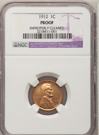1912 1C Brown--Improperly Cleaned--NGC Details. Proof. NGC Census: (0/97). PCGS Population (0/106). Mintage: 2,172. Numi...
