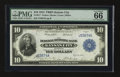 Large Size:Federal Reserve Bank Notes, Fr. 817 $10 1915 Federal Reserve Bank Note PMG Gem Uncirculated 66 EPQ....