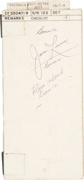 Transportation:Space Exploration, Gemini 12 Flown Mission Checklist Book Directly from thePersonal Collection of Mission Commander James Lovell, Si...