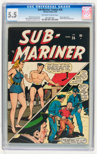Sub-Mariner Comics #26 (Timely, 1948) CGC FN- 5.5 Off-white to white pages