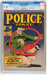 Police Comics #22 (Quality, 1943) CGC VF- 7.5 Off-white pages