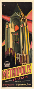 "Movie Posters:Science Fiction, Metropolis (Paramount/UFA, 1927). Insert (14"" X 36"").. ..."