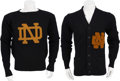 Football Collectibles:Uniforms, 1940's Notre Dame Sweaters Lot of 2....
