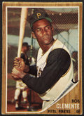 Autographs:Sports Cards, 1962 Topps Roberto Clemente #10, Signed....
