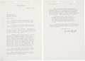 """Autographs:Inventors, Orville Wright Typed Letter Signed and Wright's 1906 Aero ClubNewsletter. The letter (two pages, 7.25"""" x 10.5"""", Dayton, Ohi...(Total: 2 Items)"""