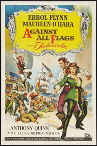 "Against All Flags (Universal International, 1952). One Sheet (27"" X 41""). Swashbuckler"