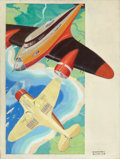 Mainstream Illustration, COURTNEY ALLEN (American, 1896-1969). Portrait of Planes.Oil on canvas. 35.75 x 27 in.. Signed lower right. ...