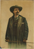 "Advertising:Signs, ""Buffalo Bill"" Cody: Tin Lithograph Sign...."