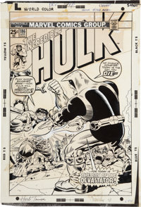 Herb Trimpe The Incredible Hulk #186 Cover Production Art (Marvel, 1975)