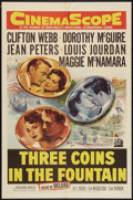 """Movie Posters:Romance, Three Coins in the Fountain (20th Century Fox, 1954). One Sheet(27"""" X 41""""). Romance.. ..."""