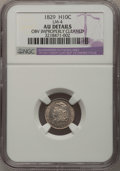 1829 H10C --Obv Improperly Cleaned--NGC Details. AU. LM-4. NGC Census: (8/514). PCGS Population (20/454). Mintage: 1,230...