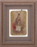 "Photography:Cabinet Photos, American Indian: Purported ""Medicine Man"" Cabinet Card...."