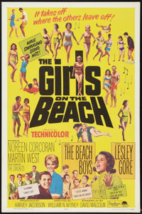 """The Girls on the Beach (Paramount, 1965). One Sheet (27"""" X 41""""). Rock and Roll"""