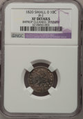 Bust Dimes: , 1820 10C Small 0--Stained, Improperly Cleaned--NGC Details. XF.JR-2. PCGS Population (1/7). Numismedi...