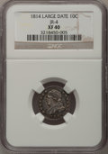 Bust Dimes: , 1814 10C Large Date XF40 NGC. JR-4. NGC Census: (3/144). PCGSPopulation (5/105). Mintage: 421,500. Numismedia Wsl. Price ...