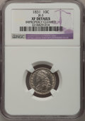 Bust Dimes: , 1831 10C --Improperly Cleaned--NGC Details. XF. JR-3. NGC Census:(11/239). PCGS Population (10/233). Mintage: 771,350. Num...
