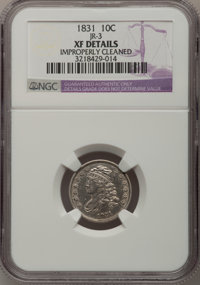 1831 10C --Improperly Cleaned--NGC Details. XF. JR-3. NGC Census: (11/239). PCGS Population (10/233). Mintage: 771,350...