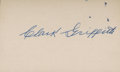 Baseball Collectibles:Others, Clark Griffith Signed Index Card....