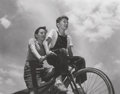 Photography:Official Photos, Photograph: Two Boys on a Bicycle....