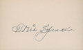 Baseball Collectibles:Others, Tris Speaker Signed Index Card....