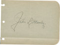Baseball Collectibles:Others, Jim Bottomley Signed Album Page....