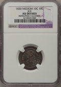 Bust Dimes: , 1830 10C Medium 10C--Improperly Cleaned--NGC Details. AU. JR-8. NGCCensus: (2/142). PCGS Population (8/136). Mintage: 510...