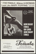 "Movie Posters:Sexploitation, The Female: Seventy Times Seven Lot (Cambist Films, 1968). One Sheets (2) (27"" X 41""). Sexploitation.. ... (Total: 2 Items)"
