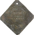Antiques:Black Americana, 1836 Charleston SERVANT Slave Hire Badge. Number 938....